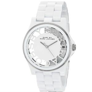 Marc by Marc Jacobs White Skeleton Watch